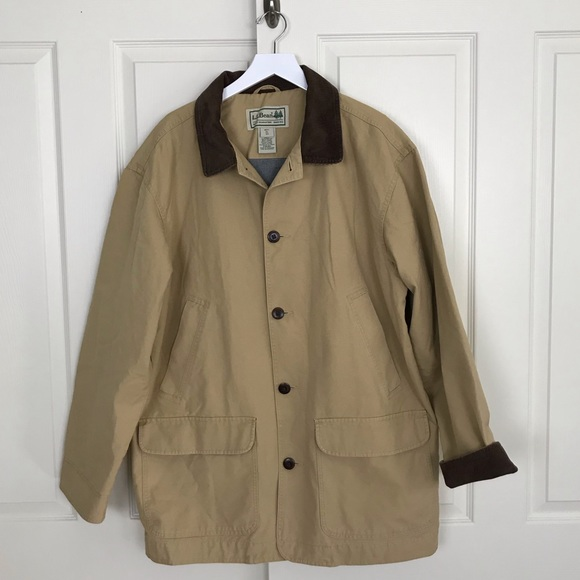 215bda041778d L.L. Bean Jackets & Coats | Ll Bean Tan Flannel Lined Field Barn ...